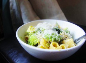 Cook: Rigatoni with Green Vegetables and Avocado