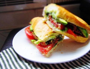 Cook: The B-A-A-T: Bacon, Arugula, Avocado, Tomato Sandwich