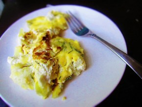 Cook: Caramelized Onion and Goat Cheese Fritatta