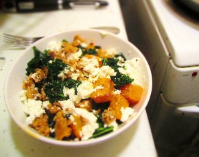 Cook: Roasted Butternut Squash with Sausage and Kale