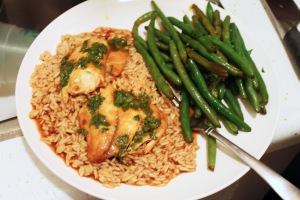 Cook: Baked Asian Tilapia with Green Beans