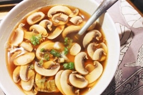 Cook: Mushrooms in Ginger Garlic Broth