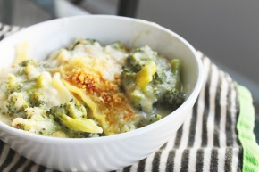 Cook: Four Cheese and Broccoli SkilletLasagna