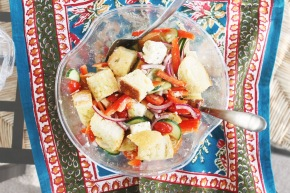 Cook: Toasted Greek Panzanella
