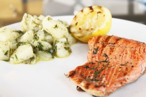 Cook: Grilled Salmon with Dill and Warm Potato Salad
