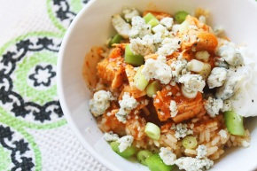 Cook: Slow-Cooker Buffalo Chicken Rice Bowls