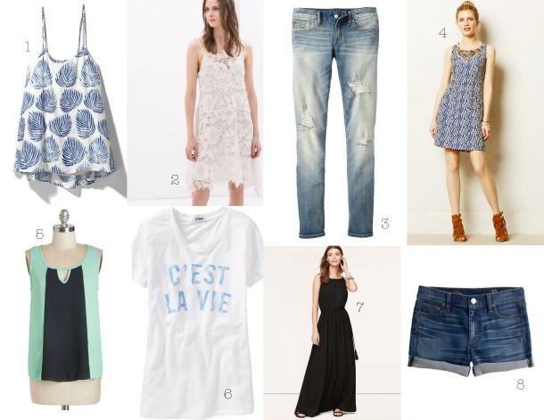 Beach Vacation Wardrobe-Clothing