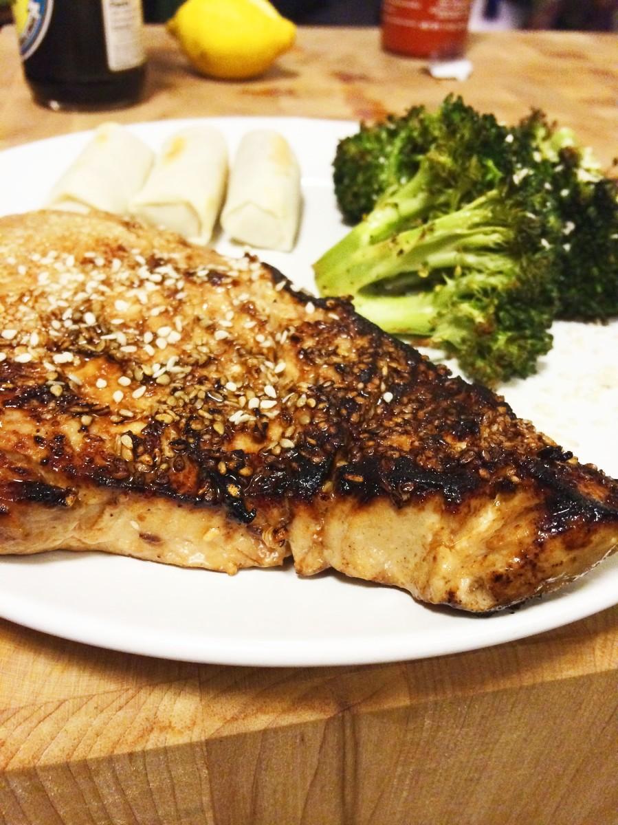 Cook sesame seared tuna steaks see hatsie for How to cook tuna fish