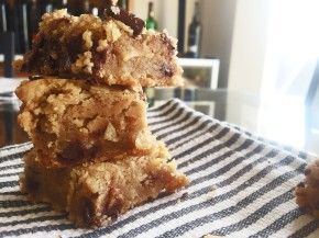 Cook: Browned Butter Chocolate Potato Chip Blondies