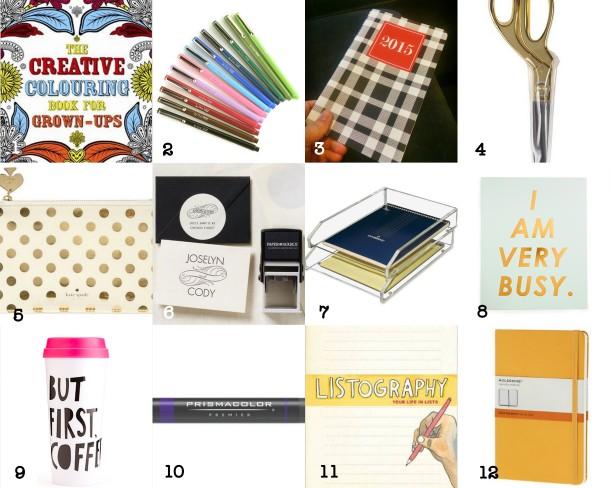 list gift guide 2014