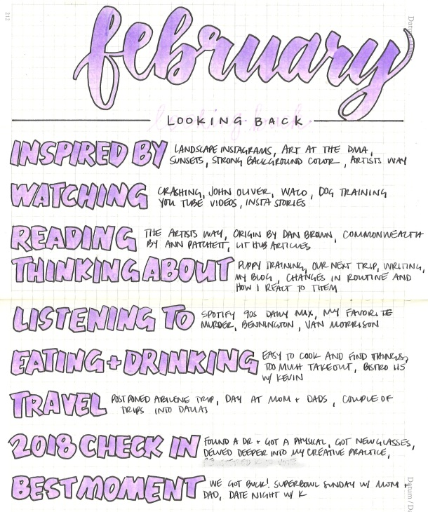 February looking back